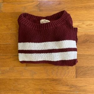 Red Hollister Striped Sweater